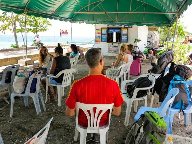 Sala de espera en Tailandia