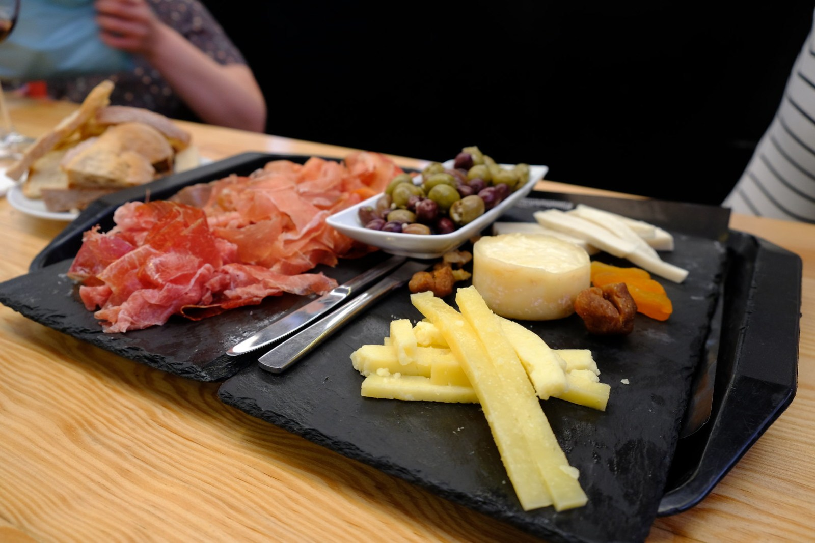 Jamon, 3 Types of Cheese and Olives