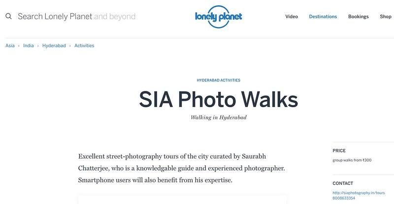 SIA Weekend Photowalks