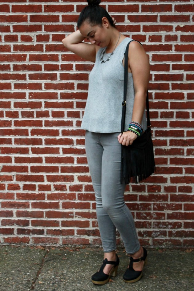 Monochrome Gray Outfit | Shades of Sarah