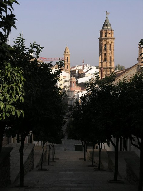 Antequera climbing up to old city