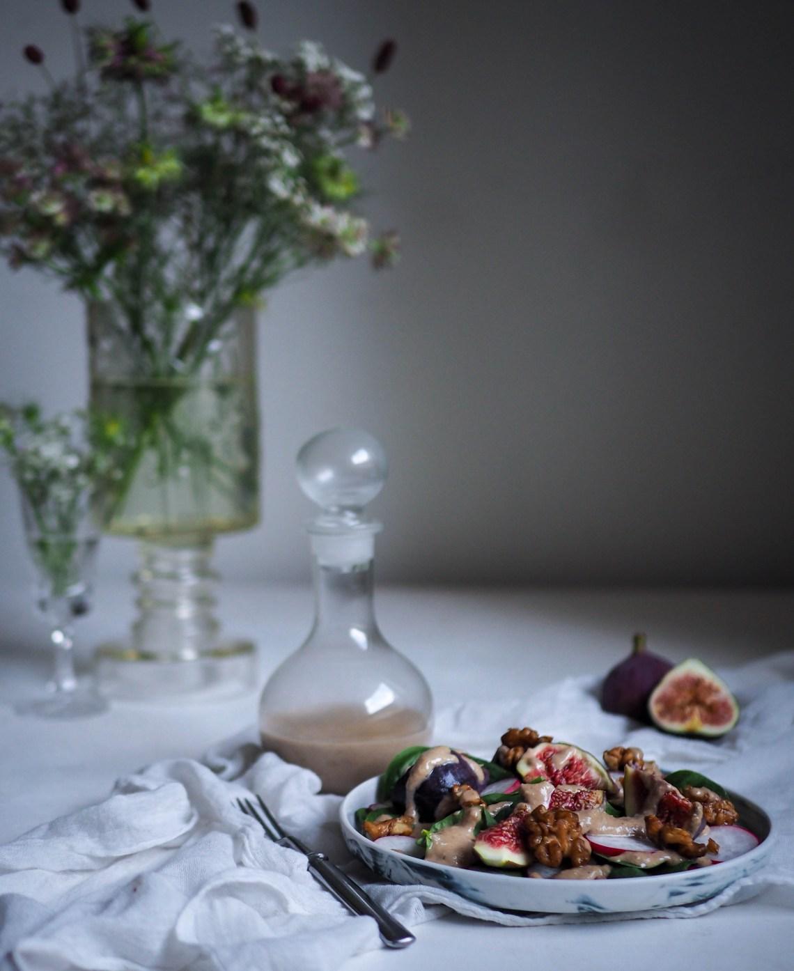 saksanpähkinävinegretti