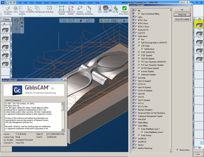 Machining with GibbsCAM V12 full license