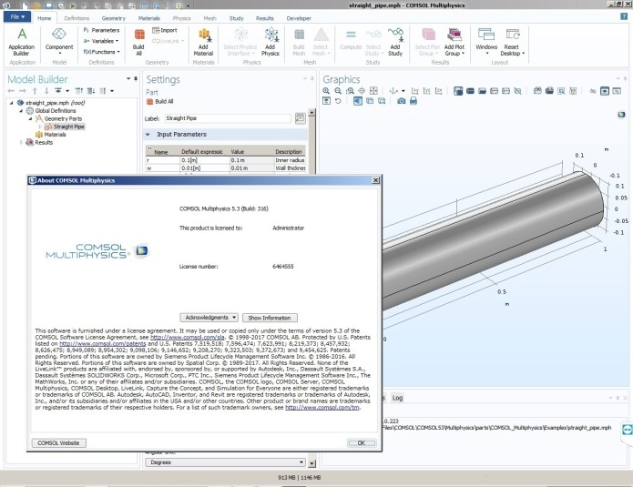 Working with Comsol Multiphysics 5.3.0.316 full license