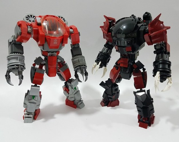 how to build a lego mech suit easy