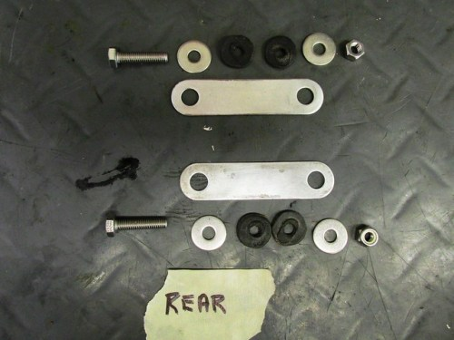 Rear Fender Rear Bracket Hardware