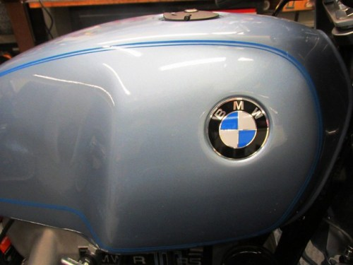 BMW Roundels Installed on Gas Tank