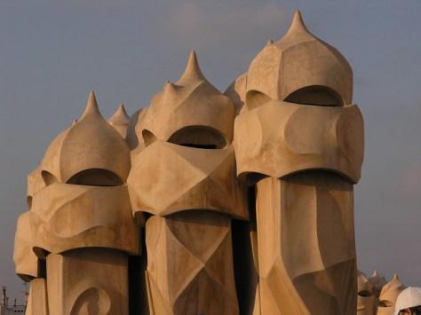 Barcelona Casa Milà roof sculpture2