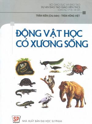 Bìa sách động vật học có xương sống - trần kiên