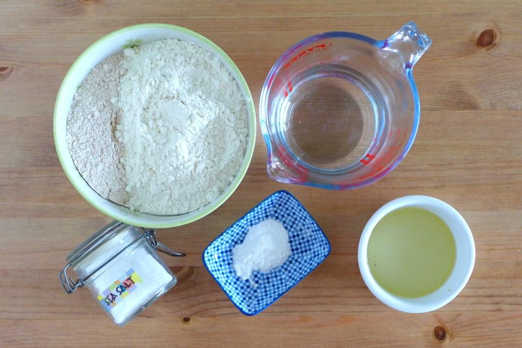 mise en place homemade flour tortillas