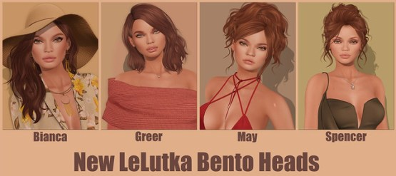 New LeLutka Bento Heads