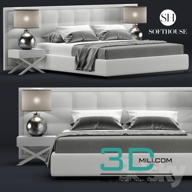 23. Bed Model PRO 3dsky free download - 3D Mili - Download ...