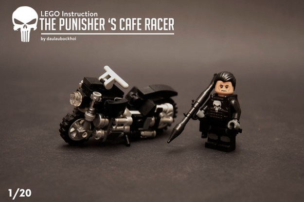Lego The Punisher's Cafe Racer instruction.