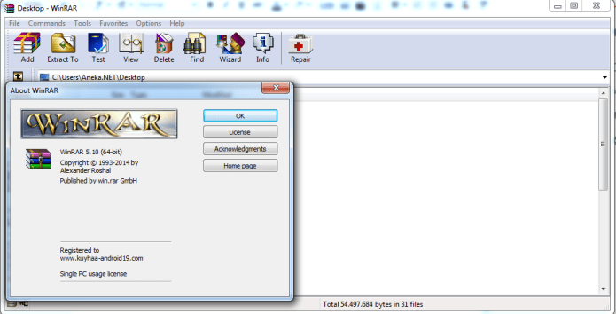 Phần mềm Winrar 5.10 full crack