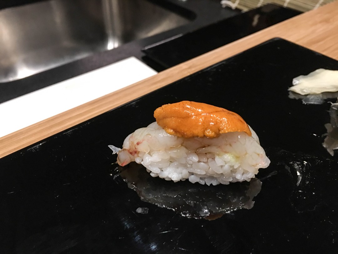 Scampi with sea urchin