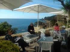Howard Friedland teaching plein air painting in Spain