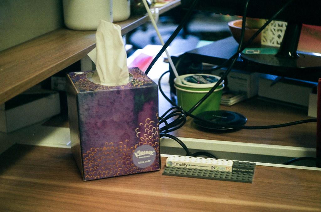 At my desk