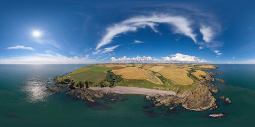 Braidon Bay - Catterline - Aerial Photosphere 08-08-2017a