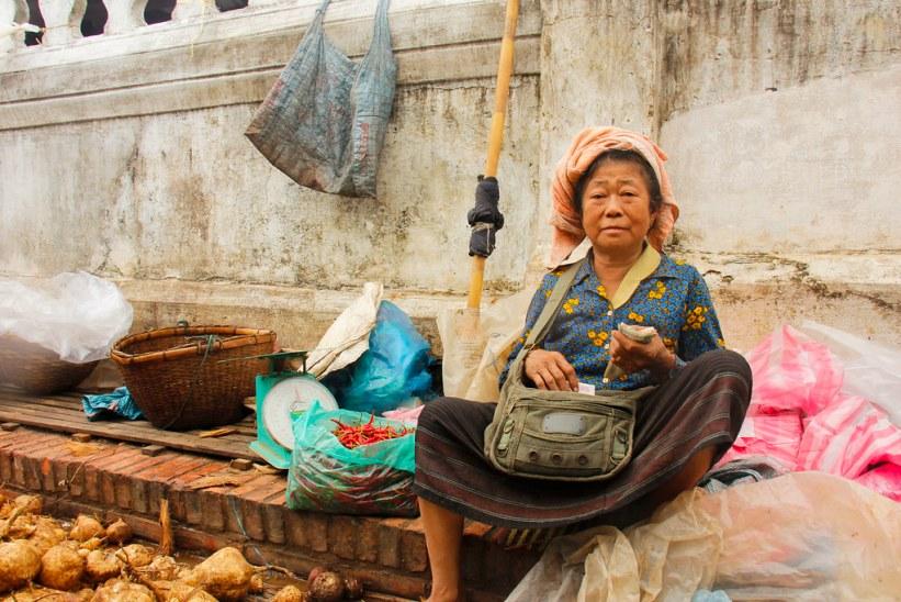 markeder i Luang Prabang, Laos