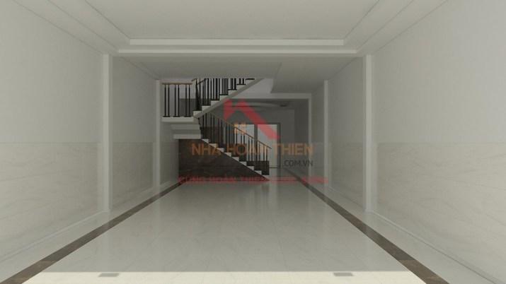 Tầng trệt được thiết kế tận dụng tối đa diện tích để kinh doanh