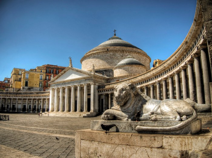 Lion in Naples, Italy