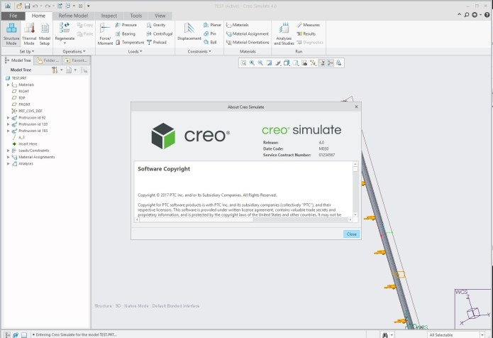 Working with PTC Creo Simulate 4.0 M030 full license