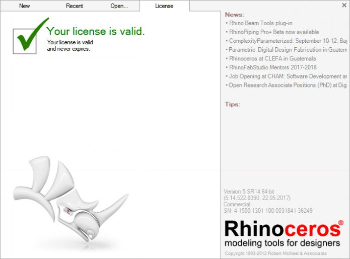 Rhinoceros 5.14.00522.08390 SR14 full license