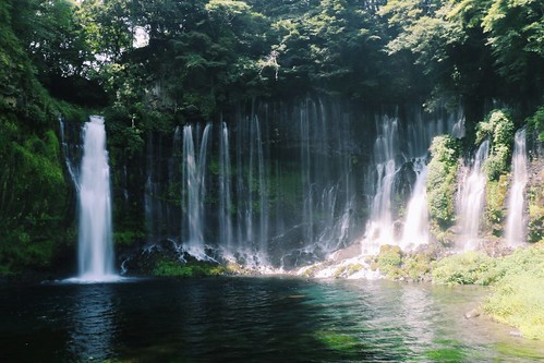 Shiraito Falls on the southern skirts of Mt. Fuji