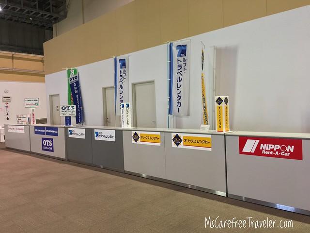 Naha LCC Airport car rental counter