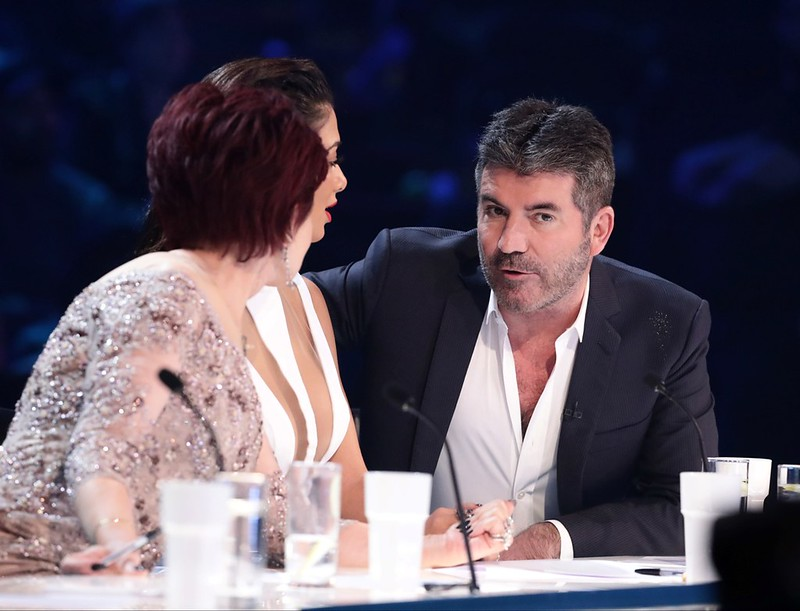 *** MANDATORY BYLINE TO READ: Syco / Thames / Dymond ***<BR/>.5 After Midnight, Saara Aalto, Matt Terry. The X Factor Live Finals - 04 December 2016.<P>.Pictured: Sharon Osbourne, Nicole Scherzinger, Simon Cowell. .<B>Ref: SPL1404562  041216  </B><BR/>.Pi