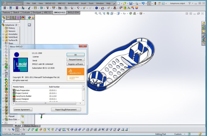 Thiết kế khuôn với IMOLD V13 SP2 for SolidWorks full