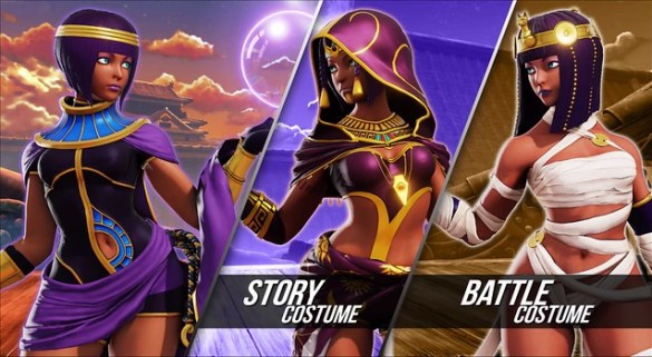 Street Fighter 5 - Menat Costumes