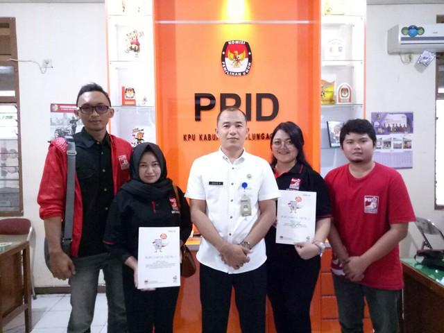 Kunjungan Pengurus DPD Partai Solidaritas Indonesia (PSI) Tulungagung ke Kantor KPU Tulungagung (5/9)