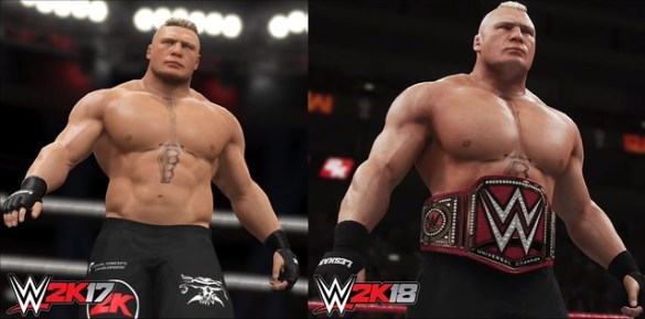 WWE 2K17 vs WWE 2K18 Graphics Comparison