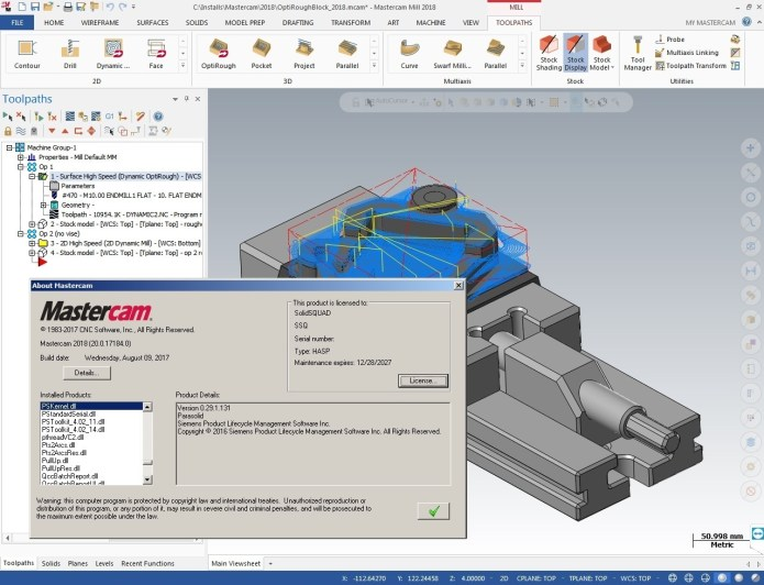 Machining with Mastercam 2018 Build 20.0.17184 full license