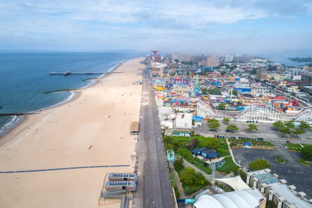 Vista aerea de Coney Island