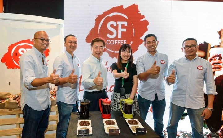 Thumbs Up to SF Coffee for having Top of the Crop Coffees and has served up freshly brewed look at the new rebranding launch today
