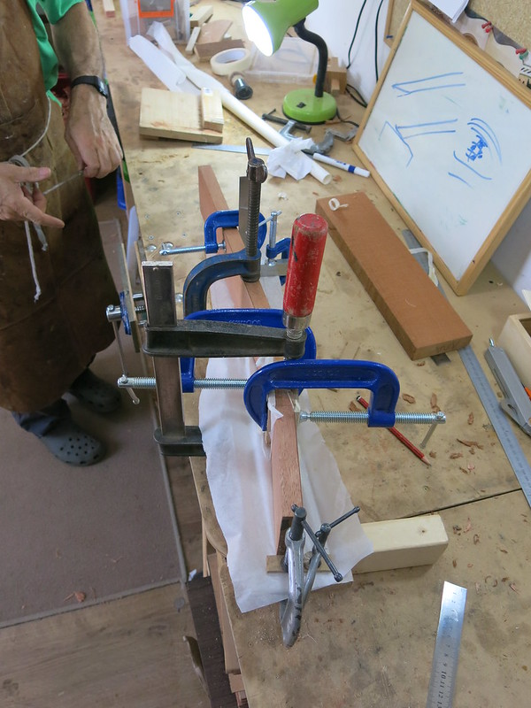 Day 1: Gluing the neck to the head