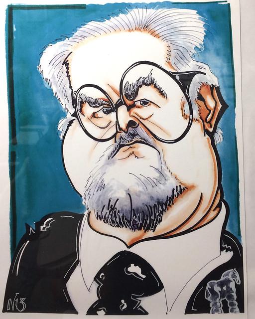 Fernando Botero Caricatura Néstor Dámaso Alonso del Pino en el Ambito Cultural El Corte Ingles Las Palmas de Gran Canaria agosto 2017