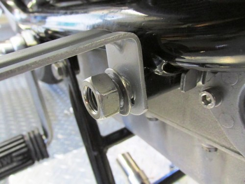 Bottom Panel Bracket Attaches to Front Engine Mount