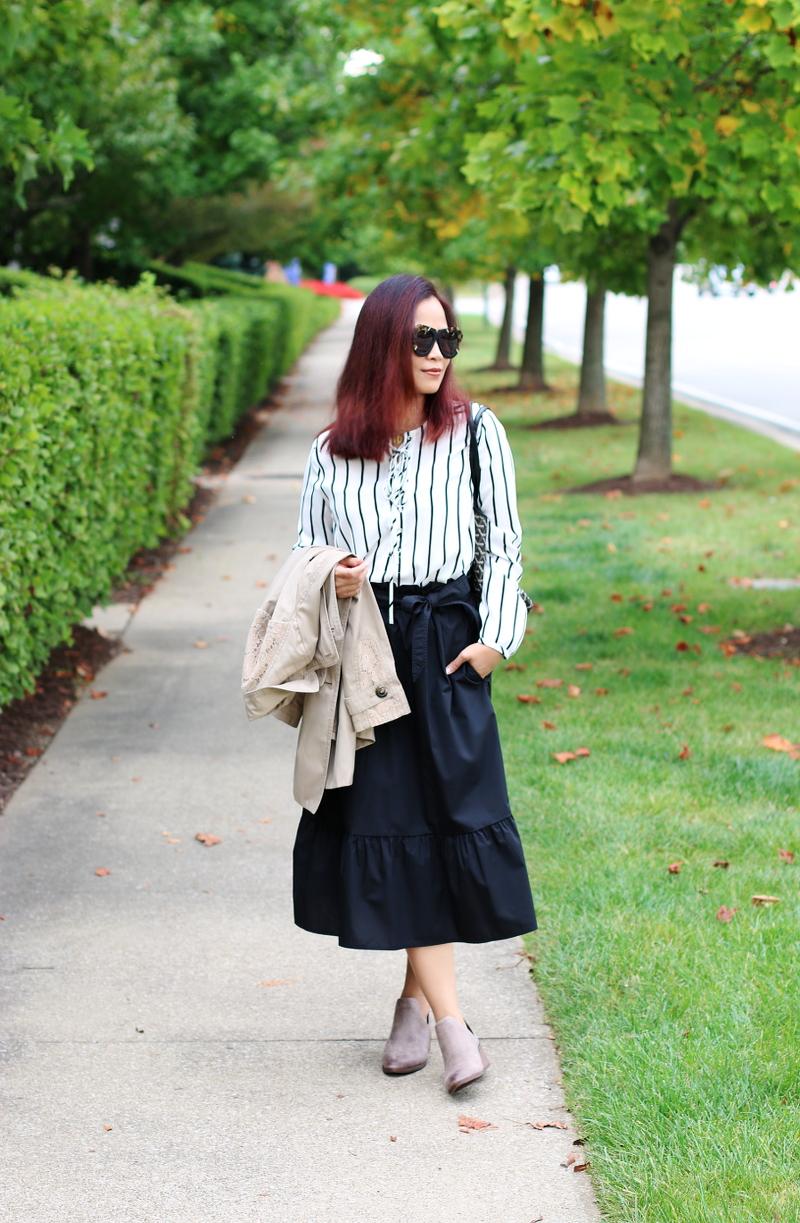 versona-striped-lace-up-top-midi-ruffle-skirt-fergalicious-boots-5