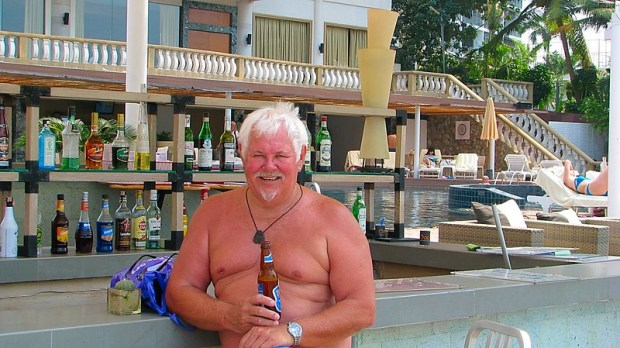 Russian babes at Pattaya Beach Club
