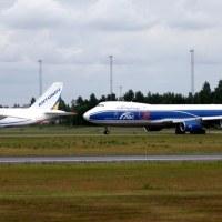 Antonov Design Bureau UR-82008 + AirBridgeCargo VQ-BRJ, OSL ENGM Gardermoen