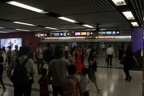 Interchange platform directions at Central station