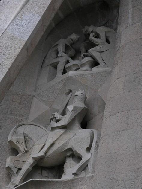 Barcelona Sagrada Familia s facade detail3