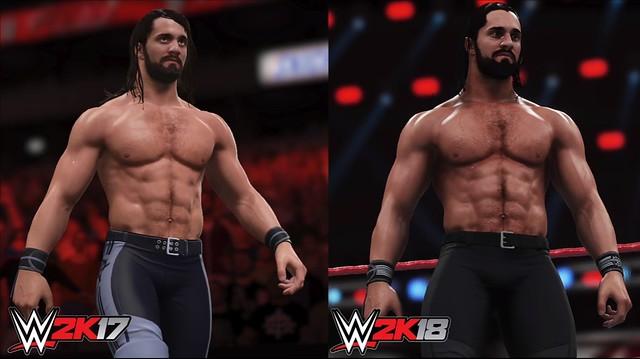 WWE 2K17 проти WWE 2K18 - Сет Роллінз
