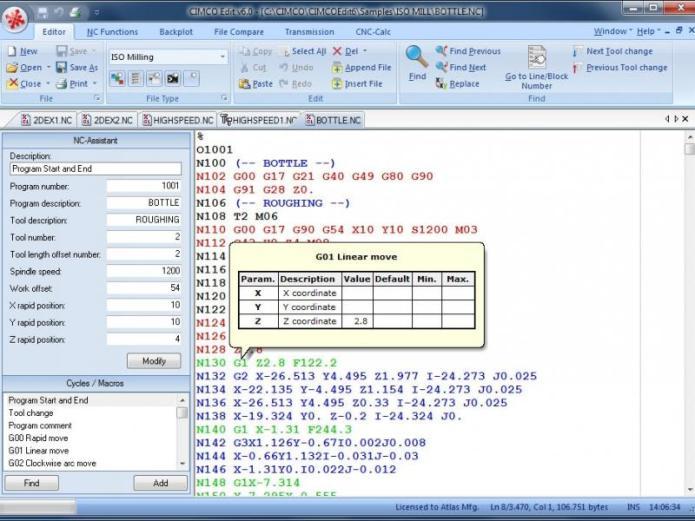 Chỉnh sửa mã lệnh với CimcoEdit 6 full