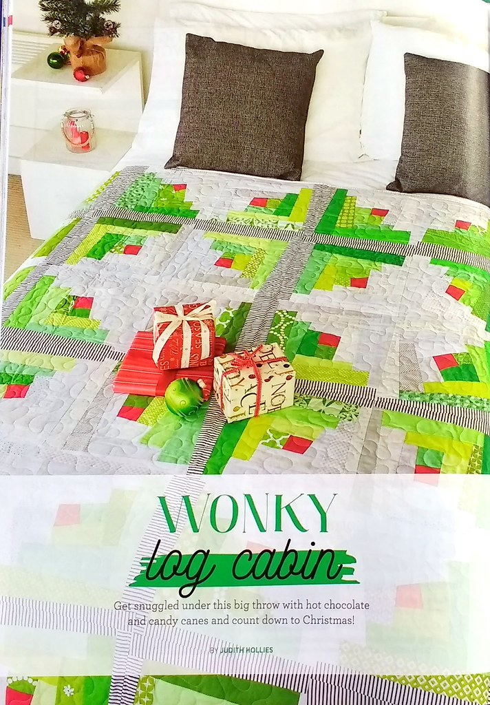 Wonky Log Cabin Quilt (Quilt Now October17)