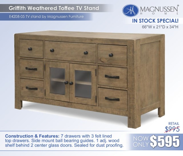 Griffith Toffee TV Stand