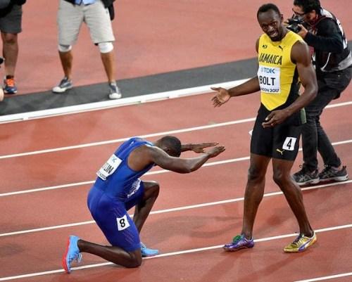 Gatlin y Bolt